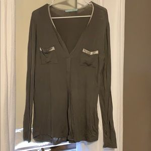 Long sleeve, army green maurices shirt